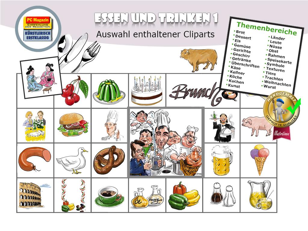 Künstler-Illustrationen - Essen und Trinken 1