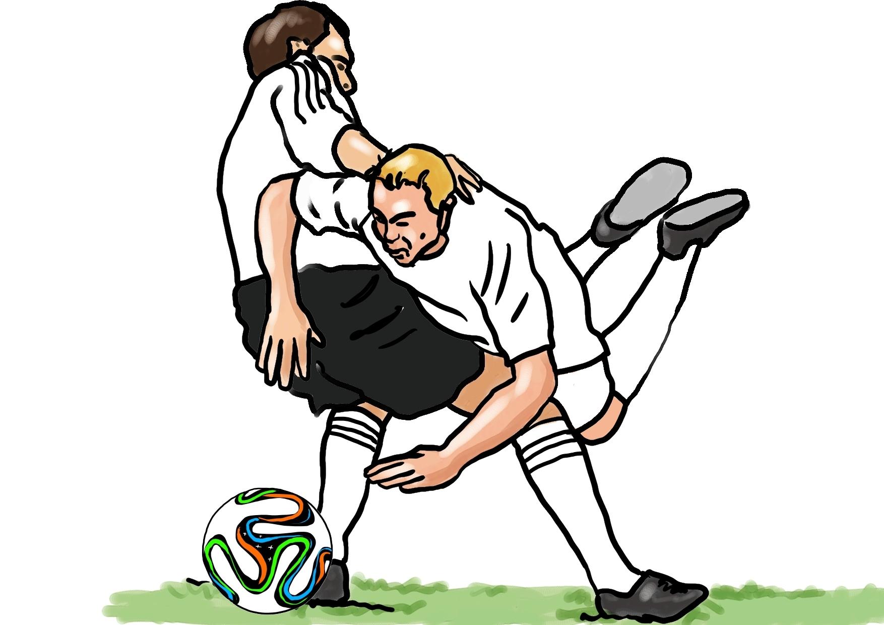 Künstler-Illustrationen Fußball