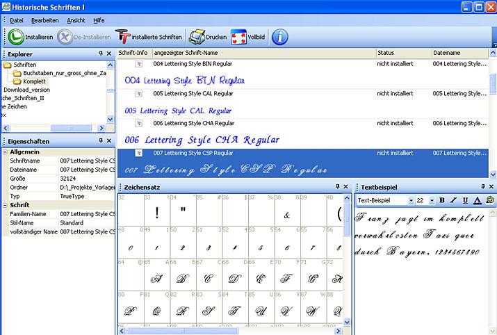 schriften downloaden und installieren