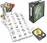 PC und Büro: Ausgedruckte Cliparts zum Vorzeigen und Mitnehmen