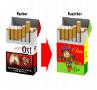 Zigaretten Hüllen Vorhar und Nachher