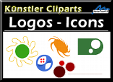 Künstler Cliparts Logos und Icons