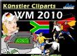 WM 2010 - Künstler Cliparts