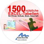 1500 Excel-Tabellen