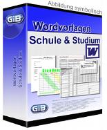 Wordvorlagen für Schule und Studium