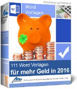 111 Word Vorlagen für mehr Geld in 2016