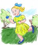 Mädchen - Ostereiersuche