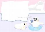 Postkarte mit Eisbär