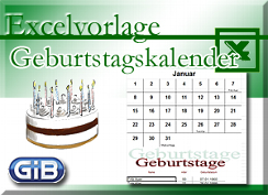 Tools Excelvorlage Geburtstagskalender