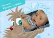 Postkarte quer mit Babymotiv