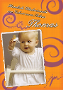 Fotogrusskarte mit Babymotiv Din A6 Hoch-Format