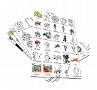 Illustrationen Feste und Feiern 1:Immer zur Hand, alle Cliparts übersichtlich ausgedruckt