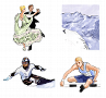 Illustrationen Sport: Aktionreiche und farbenfrohe Illustrationen