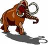 Handgemaltes Mammut