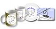 Mousepad, Tassen und Teller