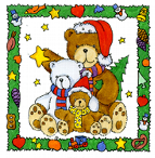 Teddybären an Weihnachten